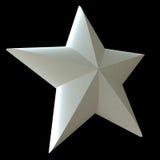 White star. On a black background royalty free illustration