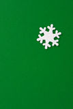 White star. On a green background Royalty Free Stock Photo