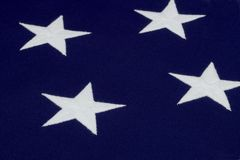 White star on American flag Royalty Free Stock Photos