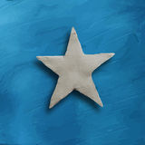 White star on blue background Royalty Free Stock Photos