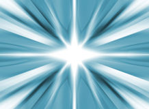 White star on a blue background. White star on a cold blue background Royalty Free Stock Photography