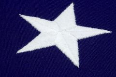 White star on blue field Stock Photo
