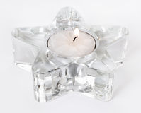 white star candle Zdjęcia Stock