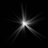 White star flash... High quality white star flash on black background Stock Photography