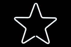 White Star Neon Sign Stock Image