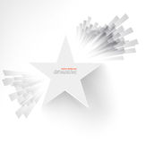 White star. Ray and explosion. Design web illustration Royalty Free Stock Photo