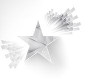 White star. Ray and explosion. Design web illustration Royalty Free Stock Photography