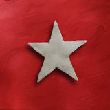 White star on red background Royalty Free Stock Images