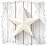 White star on  wood, winter motive, illustration Royalty Free Stock Photography
