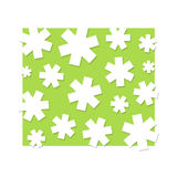 White stars. Background illustration, on green Royalty Free Stock Photography