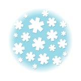 White stars. Background illustration, on blue Royalty Free Stock Photos