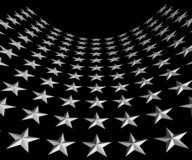 White Stars on Black Background Royalty Free Stock Photos