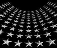 White Stars on Black Background Royalty Free Stock Photos
