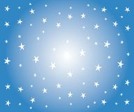 White Stars on Blue Background stock illustration