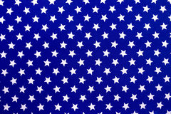 White stars on a blue background Stock Photos