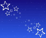White stars on blue background Stock Images