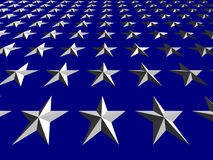 White Stars on Blue Background, Tilted Stock Photography