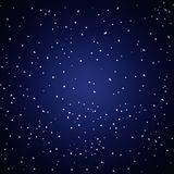 White Stars in Blue and Dark Background. The illustration of white stars in dark background Stock Photos