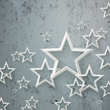 White Stars concrete Royalty Free Stock Images