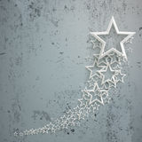 White Stars Dust Chart Concrete Royalty Free Stock Photos