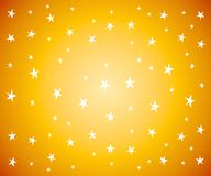 White Stars on Gold Background. A background pattern of white stars on gradient gold yellow background Royalty Free Stock Image