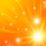 White stars with orange lights Royalty Free Stock Images
