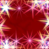 White stars over red background Stock Photography