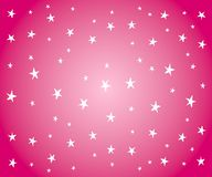 White Stars on Pink Background. A background pattern of white stars on gradient pink background Stock Photos