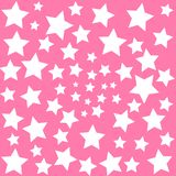 White stars on pink sky background baby dreams vector illustration