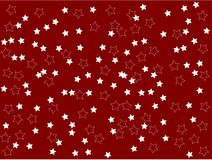 White stars on red background plain clean Vector Illustration. Computer graphic design computer graphic web design Royalty Free Stock Photo