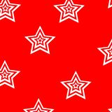 White stars on red background repetition cards backgrounds. Isolated repeat decoration pattern stock illustration