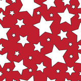 White stars on a red background.Seamless.Vector Stock Photos