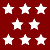 White stars on a background. White stars on a red background Royalty Free Stock Image