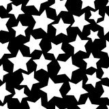 White stars seamless Stock Photo