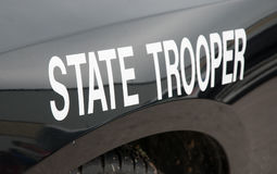 White state trooper -decal Stock Photography