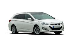 White station wagon car Stock Images