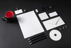 White stationery mock-up royalty free stock photography