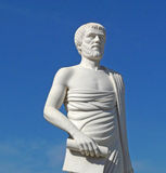 White statue of Aristotle. In Polygyros, Greece Royalty Free Stock Photos