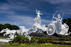 White statue in Bali Stock Photos