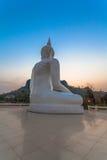 white statue buddha Royalty Free Stock Photo