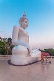 white statue buddha Stock Images