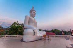 white statue buddha Stock Photos