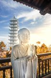 White statue of buddha Royalty Free Stock Photo
