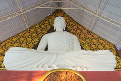 The white statue of Buddha Royalty Free Stock Image