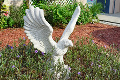 White statue of eagle Stock Images