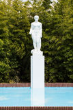 White statue and pool Stock Photos