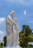 White statue of saint anna Stock Images