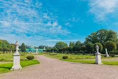 White statues in the Park of Kuskovo. Moscow Royalty Free Stock Images