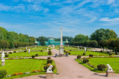 White statues in the Park of Kuskovo. Moscow Royalty Free Stock Image