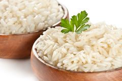 White steamed rice Stock Images
